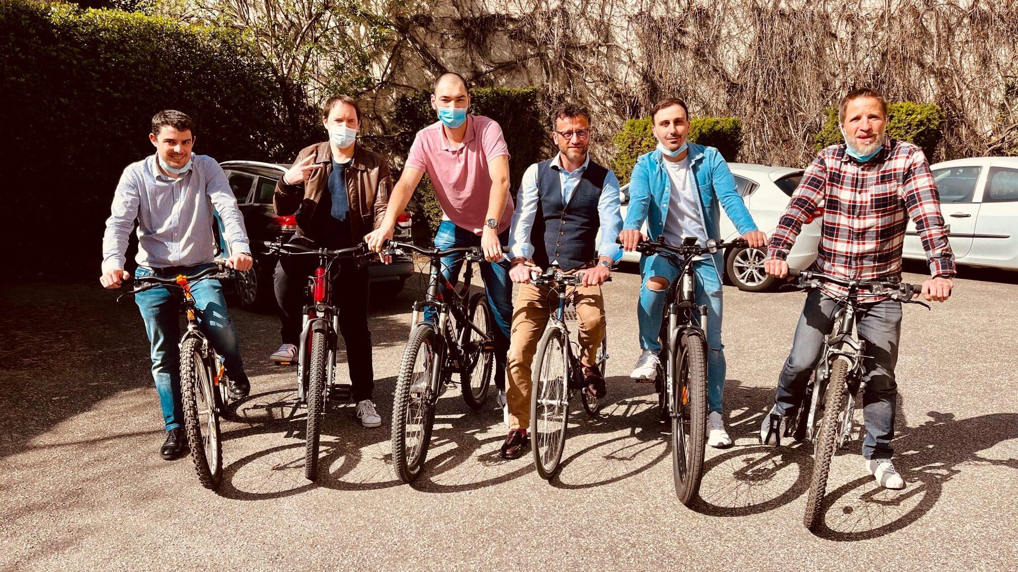 6 collaborateurs LOCAM qui utilisent le vélo